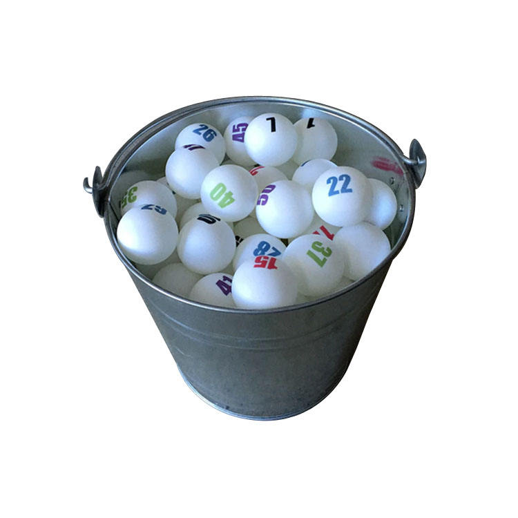 Colored Sequential Individually Numbered White Ping Pong Balls