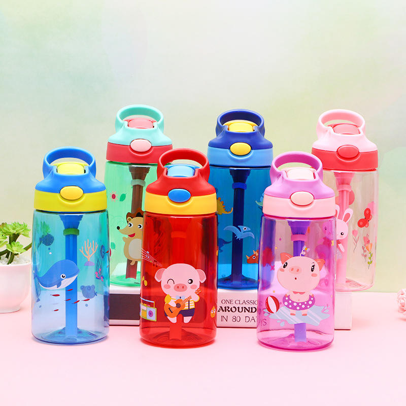 Seaygift eco friendly kids plastic water bottle bpa free kawaii cute unicorn kids school students sport tritan water bottle