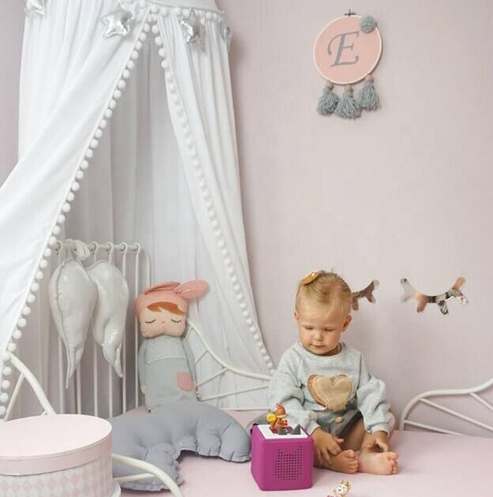 Wholesale Baby Bed Canopy Curtain Round Top Crown Hanging Mosquito Net For Bedding Room