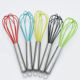 Best selling product stainless steel handle silicone egg beater whisks 6inch