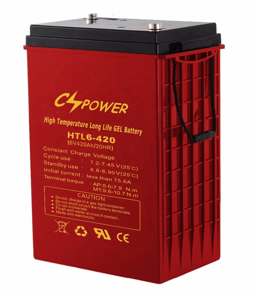 CSPOWER (HTL6-420) Long life 6V 420Ah High Temperature Deep Cycle Solar Gel Battery