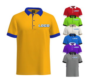 Anti-Pilling Quick Dry Breathable custom logo embroidery printing Golf Wholesale polo shirt for men