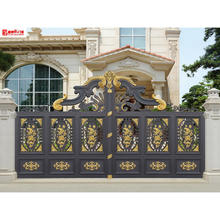Hot sale luxury villa electric gate customization villa garden gates automatic swing driveway gate cast aluminum courtyard gate
