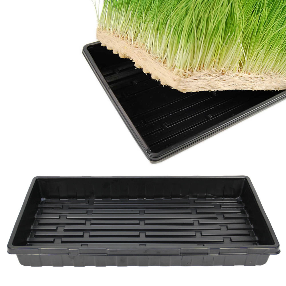 1020 flat large shallow hydroponic tray with or without holes for microgreens