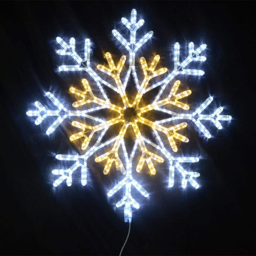 Large motif decoration waterproof 36w sculpture lights outdoor lighted christmas led snowflakes