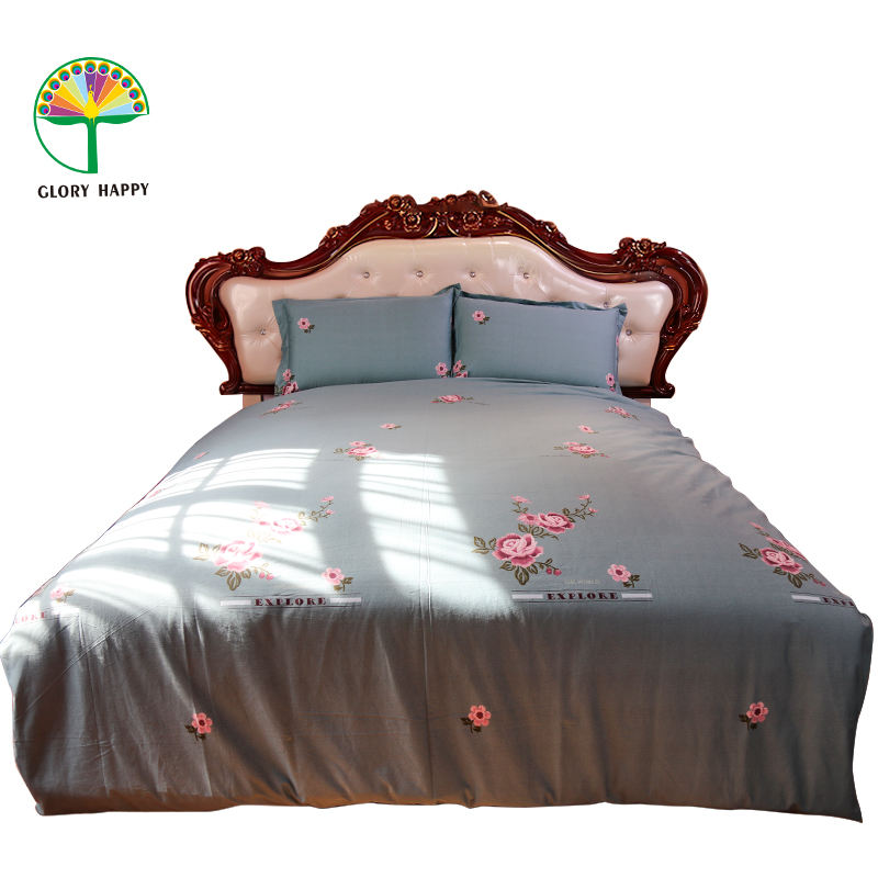 100 Cotton Bed Fitted Sheet Cover Soft Full Queen King Pillow Case Bedding Set