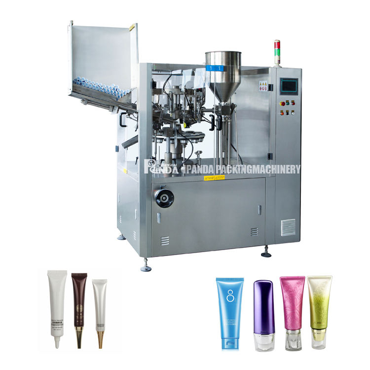 Shanghai factory high quality facial cleaner hand cream plastic tube filling sealing machine