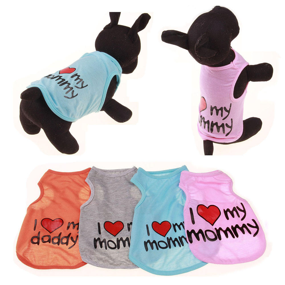 Hot sale fashion cute summer pet vest dog clothes for funny ropa para perros