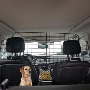 Fahrzeug-Barriere um Hunde und Tierhaare vom Vordersitz fernzuhalten KOMANIC Haustier-Barriere Hunde-Auto-Barriere Hoch durchsichtiges Netz