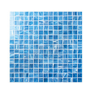 Bluwhale Tile One Stop Pools Supplier Factory Price Square Mix Color Blue Swimming Pool Crystal Glass Mosaic Tile
