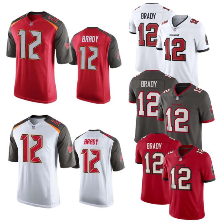 Buccaneers #12 Tom Brady CUSTOM AMERICAN FOOTBALL NFL JERSEYS SUBLIMATION NFL JERSEYS