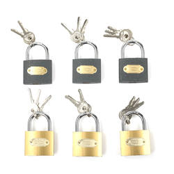 Factory wholesale 50mm copper/grey print iron padlock