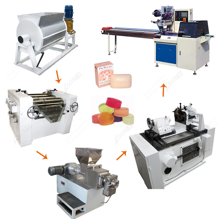 Factory Price Small Laundry Toilet Bath Soap Production Line Bar Soap Making Machine Small Line