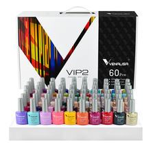 70518K Venalisa VIP2 gel nail polish set new 60 colors nail polish uv gel basecoat primer MATTE topcoat color book full set