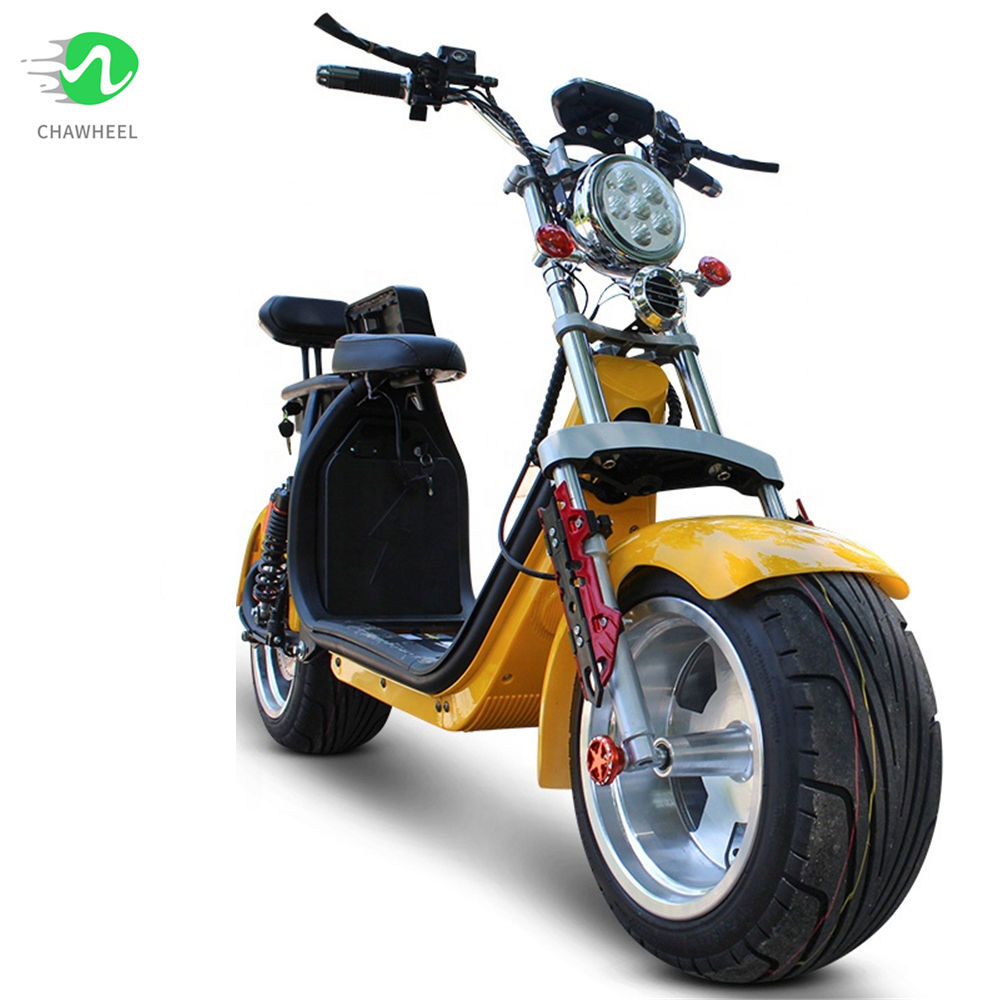 a 2019 NEW EEC Approved Citycoco 1500W with Double Lithium Battery 60V,28AH Electric Scooter Citycoco Europe Warehouse