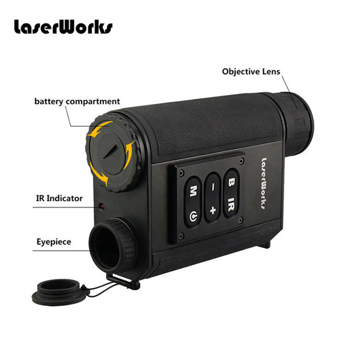 LaserWorks Wholesale 6X Objective Lens Adjustable Digital Night Vision Scope LRNV009