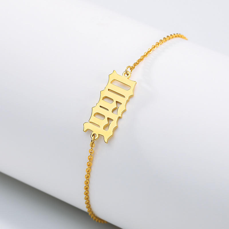 2020 Best Selling Stainless Steel Birth Year Number Bracelet Customize 1990-2019 Year Number Bracelet For Birthday Gifts