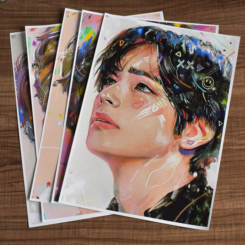 Wholesale Kpop Bangtan Wallpaper Adhesive Sticker Painting Calendar Picture Album Sticker Poster