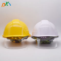 DK LED industrial safety helmet with goggles for construction