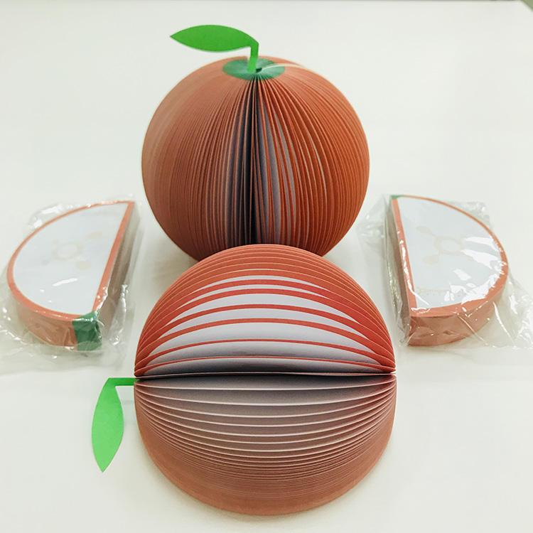 <span class=keywords><strong>Papelería</strong></span> Venta caliente 3D fruta en forma de Memo pad de nota adhesiva