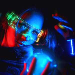 Hot Selling luminous glasses LED Light Up Glasses Party Club Bar Favors Flashing led glasses