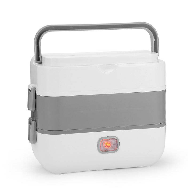 Ready To Ship Portable Metal Lunch Box Two Layers Food Plastic Containers Electric Lunch Box Food Heater