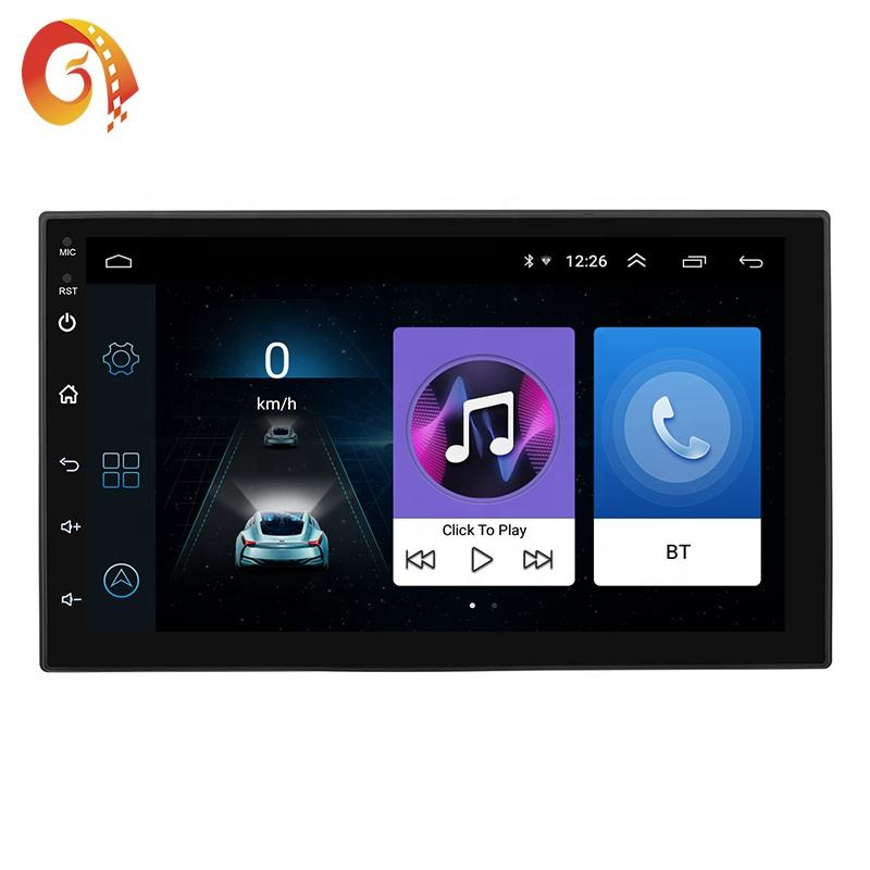 Android Speler 8.1 Systeem 7 Inch 2 Din Auto Speler Gps Navigatie Met Wifi <span class=keywords><strong>Bluetooth</strong></span> Am/Fm Spiegel Link