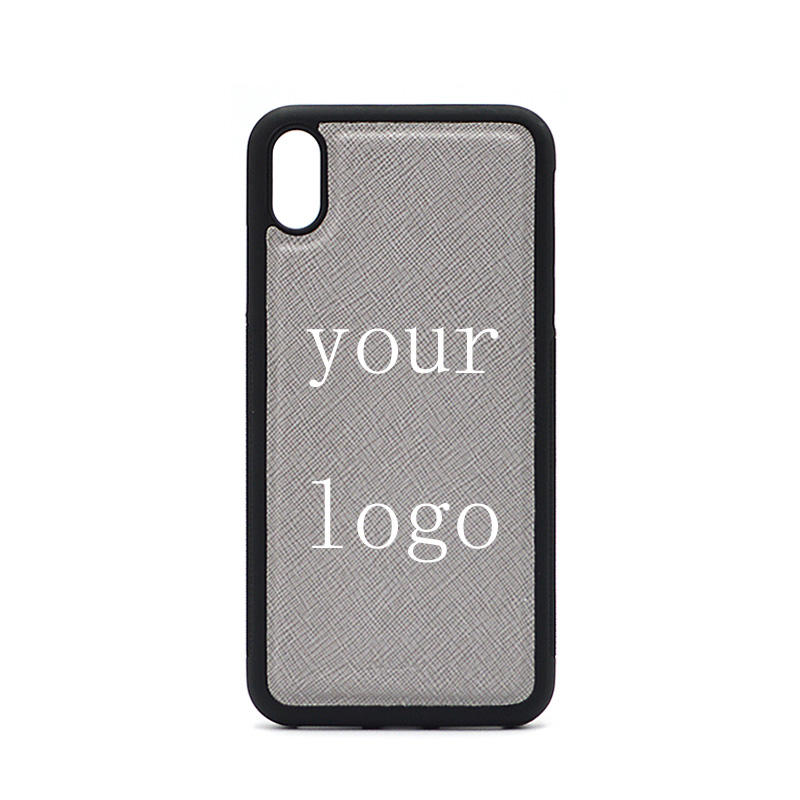 Ysure Luxury Brand 3D Design Your Own Logo Pu Saffiano Leather Phone Case For iPhone 7 7plus 8 X XS MAX XR