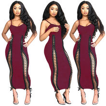 90622-MX43 spaghetti strap sexy bandage styles womens dress