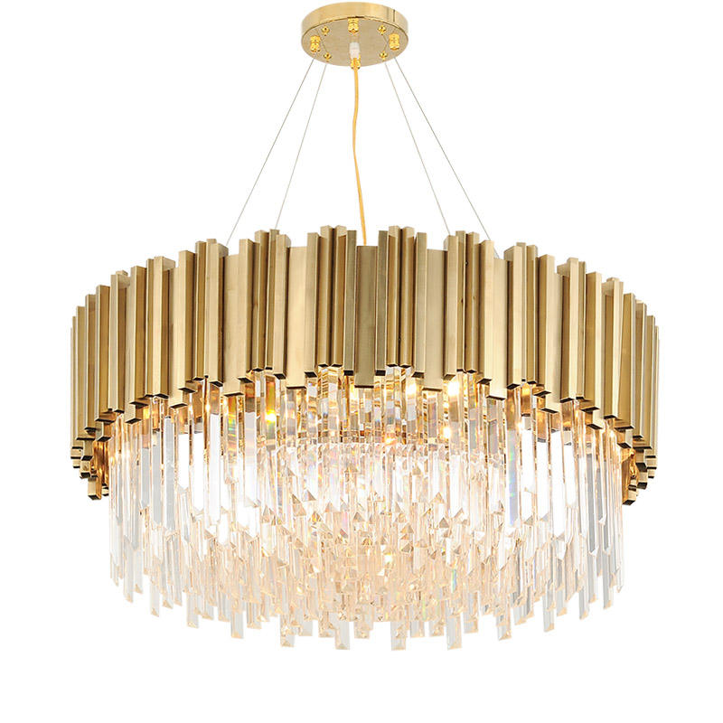 Customizable modern luxury pendant lights lighting fixtures hanging ceiling hotel large k9 gold led crystal chandeliers