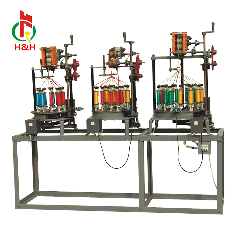 HH-henghui Lage Snelheid Oude Type Cords Veters Platte Touwen Vlechten Machine