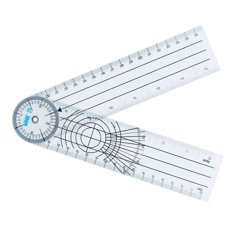 Promotional Medical Plastic Pvc Tools Used Measure Angle Ruler 30Cm Orthopedics Goniometer