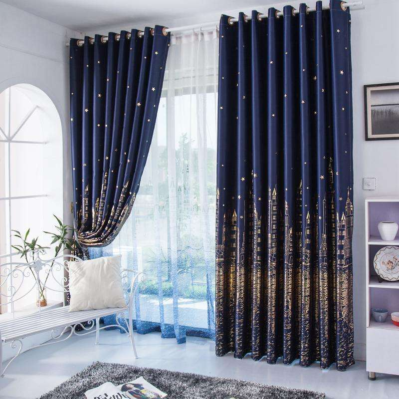 hot sale high quality polyester blackout curtains window for the living room fabric home textile wholesale