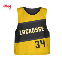 cheap custom sublimation lacrosse jerseys reversible pinnies