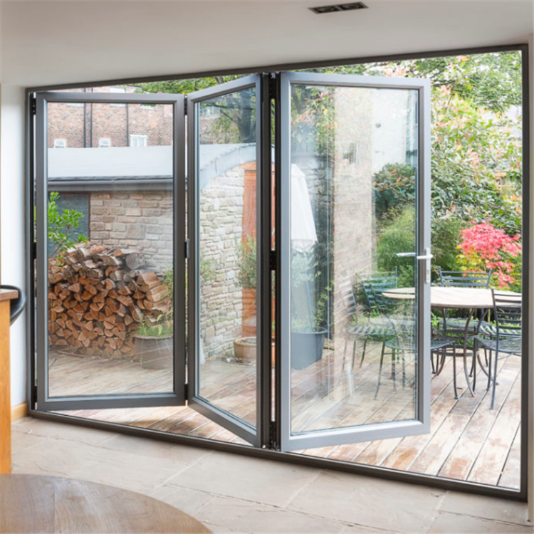 Modern design beautiful aluminium folding doors