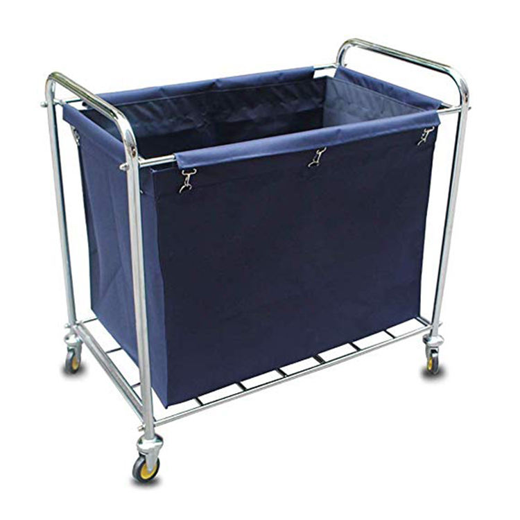 Cheap hotel room metal housekeeping cleaning linen trolley