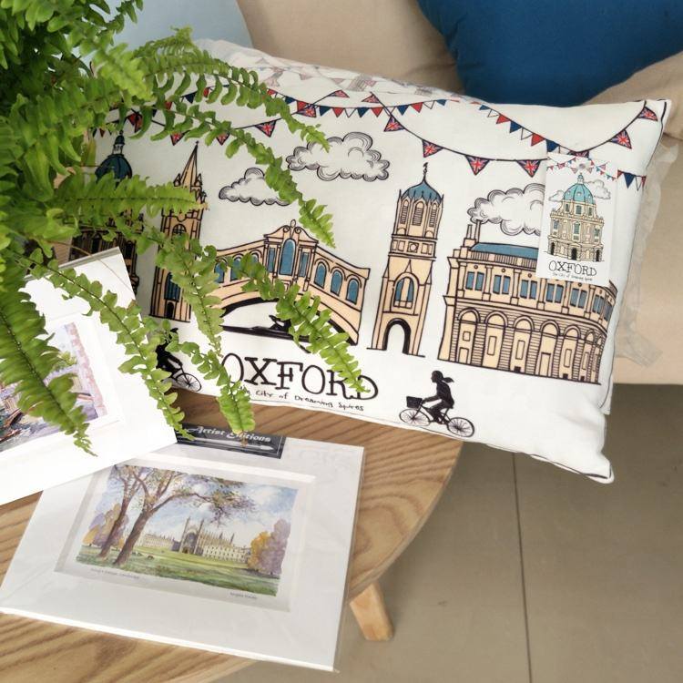 Manufacturers Wholesale Natural Souvenir Style White Printing Gift Cotton Pillow
