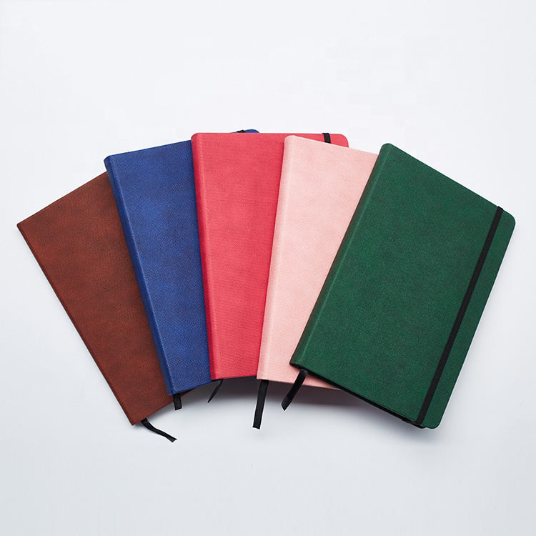 High Quality Manufacturer A5 Hardcover PU Leather Notebook Office School Paper Notebook