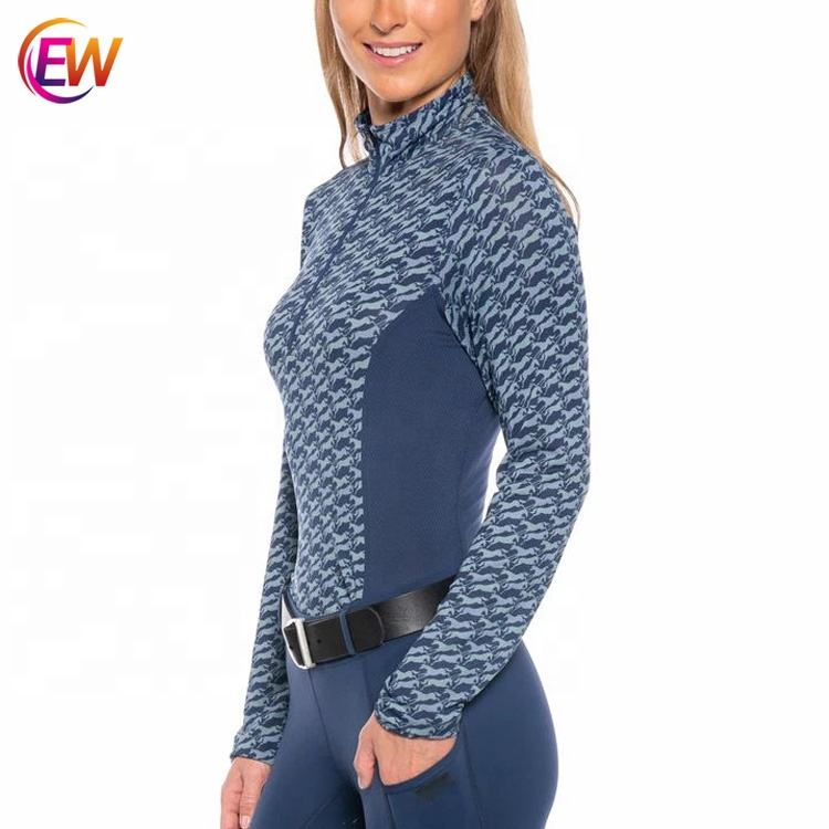 Horse Riding Tops Long Sleeves Equestrian Riding Shirt For Women