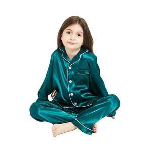Toddler Girls Short Satin Pajamas Sleepwear Pajama Pants For Kids