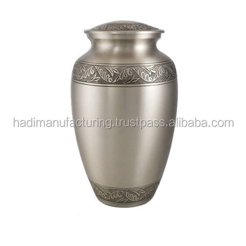 Antique Brass Adult Memorial Urn for Human Cremation Ashes