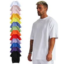 High Quality Fashion Custom Printed heavyweight blank Oversized tshirt Short Sleeve 100% cotton mens t shirts