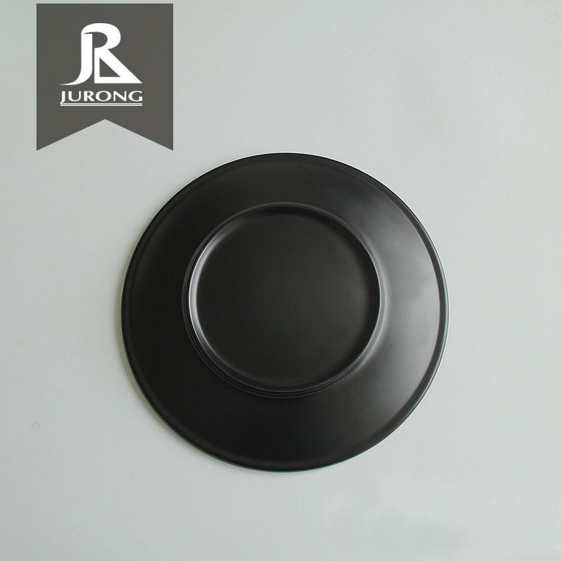 Kitchenware black plate saudi arabia market dinner set melamine crockery for wholesale