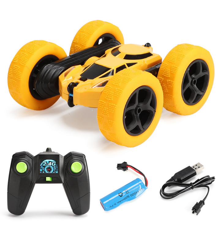 Stunt double sided 2.4G remote control flip lander children toys RC remote control car