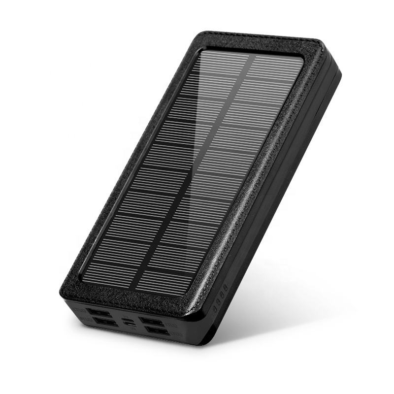 Trending products 2020 new arrivals 4 usb tech power bank 20000mAh solar charger solar power bank for acer