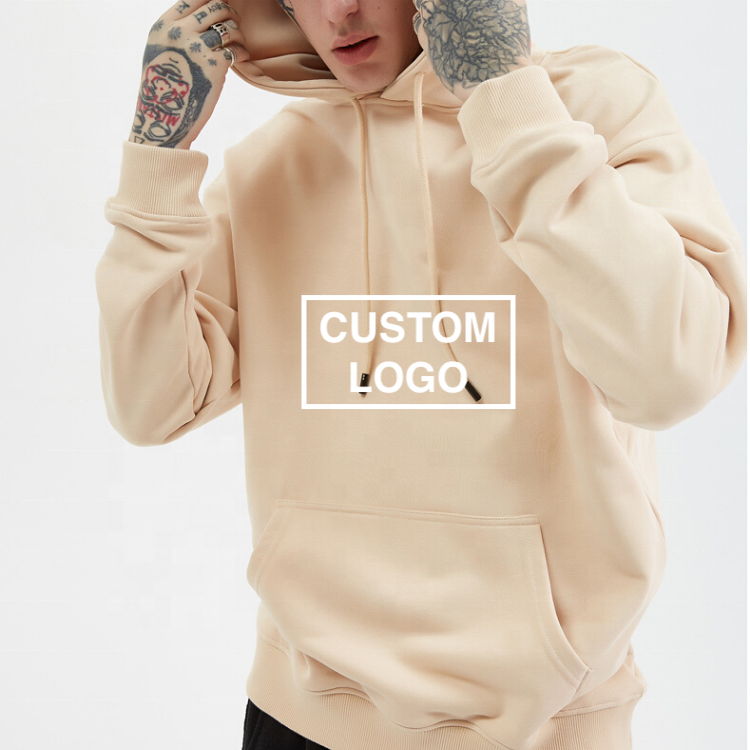 Custom embroidered logo hoodie men 100% cotton organic oversized hoodie unisex women mens warm pullovers hoodies
