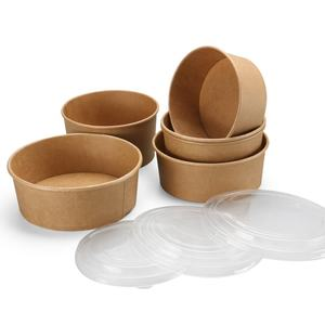 Eco-friendly biodegradable food takeaway container disposable food kraft paper box packaging