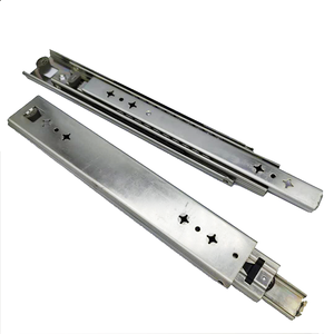 Heavy Duty Double Was Drawer Slides Channel Telescopic Ball Bearing 550mm Drawer Slide