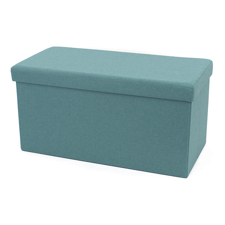 RTS Fabric foldable storage ottoman Rectangle stool saving space for bedroom
