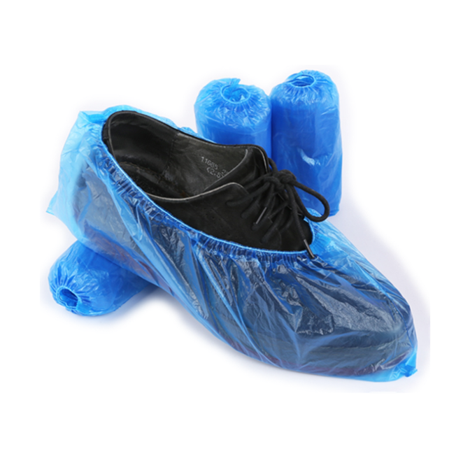 Factory Directly Supply Pe Shoe Covers Waterproof Anti Slip For Lab Use